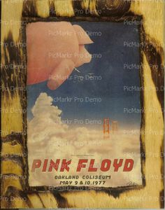 Pink Floyd Concert Poster  Wooden Plaque by wiesbaden49 on Etsy, $20.00