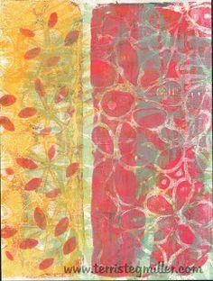 Terri Stegmiller Art Quilts: Jumbo Gelli. Stencil by Terri Stegmiller for StencilGirl.
