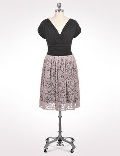 Black and cream lace dress