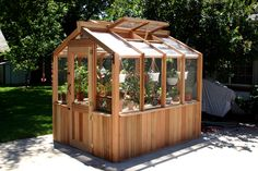lovely little greenhouse by Cedar-Built Greenhouses