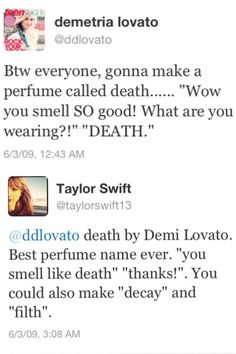 Demil Lovato and Taylor Swift Tweeting - this is funny