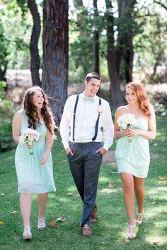 Bridal Party Bridesmaids Groomsman Light Blue   Chico-California-Wedding-Photographer-Neighborhood-Church-TréCreative