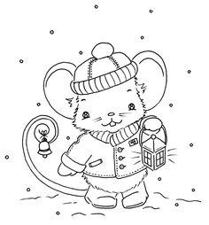 Cute little Christmas mouse