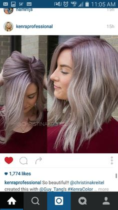 Lavender base shadow root. LOVE.