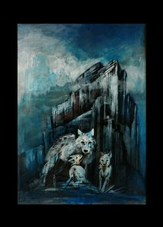 wolfs traditional painting