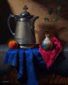 "it's a self-portrait, based on the famous painting ""Het melkmeisje"" from Johannes Vermeer."