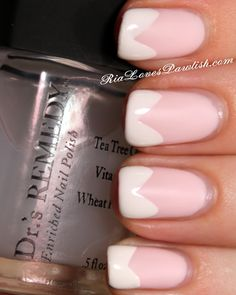 Two Finish French Tips With Dr.'s Remedy and Salon Perfect! #prsample