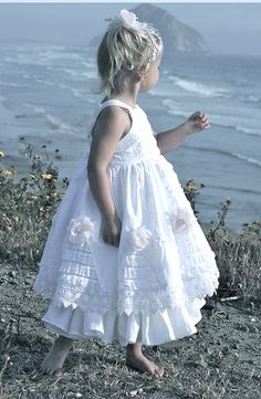 ❀ Fanciful Flower Girls ❀ dresses & hair accessories for the littlest wedding attendant :-) frilly jumper