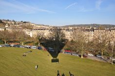 Balloon launch from Royal Victoria Park, Bath