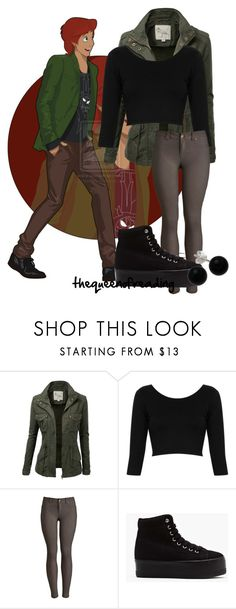 """""""Taran-Disney University"""" by thequeenofreading ❤ liked on Polyvore featuring J.TOMSON, Topshop, Joules, Jeffrey Campbell and Bridge Jewelry"""