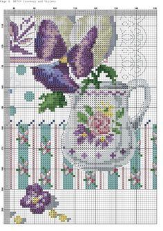 DMC BK769 Crockery and Violets VERONIQUE ENGINGER