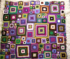 Babette blanket (purple/multi-colour)