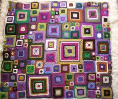 Babette blanket (purple/multi-colour)