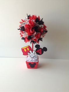 Mickey Mouse birthday Party decoration, centerpiece, centerpieces. $10,00, via Etsy.