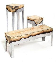 Wood & Aluminum Cast Furniture by Hilla Shamia