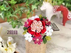 2回目【100均材料 つまみ細工】fabric flower kanzashi flower DIY - YouTube Flower Diy, Diy Flowers, Fabric Flowers, Kanzashi Flowers, Ribbon Hair, Flora, Arts And Crafts, Hair Accessories, Boxes