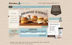 Caribou Coffee - #Webdesign #inspiration www.niceoneilike.com