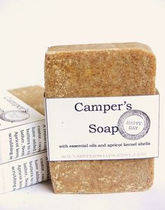Eco Friendly Campers Soap - Vegan - Bug Repellant - Scrub - Shea Butter.