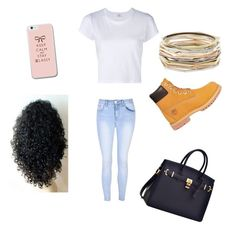 """""""day out"""" by sophisticatedfashionista on Polyvore featuring RE/DONE, Glamorous, Timberland and Kendra Scott"""