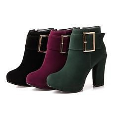 Women's Shoes Round Toe Chunky Heel Ankle Boots More Colors Available – USD $ 29.99