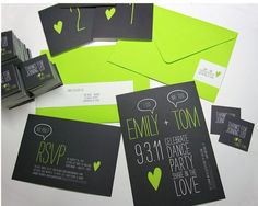 Bright Coloured Wedding Stationery
