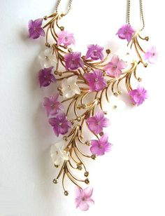 HENKEL & GROSSE for DIOR Purple Flowers Necklace