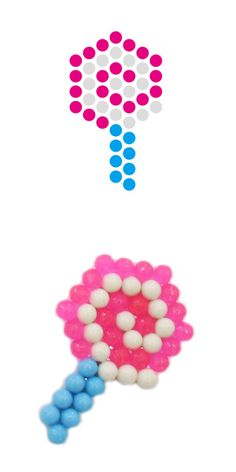 Lolly aqua beads template Perler Patterns, Peyote Patterns, Beading Patterns, Arts And Crafts Kits, Craft Kits, Crafts For Kids, Perler Beads, Fuse Beads, Pony Bead Crafts