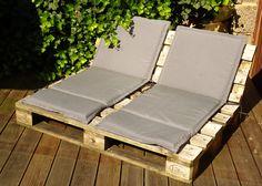 ☀️pallet lounge - die schmalere Version ist am Start Pallet Walls, Pallet Couch, Pallet Patio, Pallet Beds, Pallet Furniture, Outdoor Furniture, Outdoor Decor, Diy Pallet, Chill Lounge