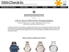 Baume & Mercier Life is About Moments Sweepstakes