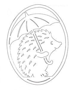 Autumn decoration for inspiration. Kirigami, Hedgehog Craft, Paper Cutting Patterns, Cut Animals, Autumn Crafts, Scroll Saw Patterns, Paper Stars, Digi Stamps, Animal Design