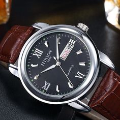 Cheap watch for, Buy Quality watches for men directly from China watch super Suppliers: Montre Homme New Luxury Mens Watches Super Soft Leather Clock Men Date Day Calendar Waterproof Quartz Wrist Watches For Men 0287 Fossil Watches For Men, Luxury Watches For Men, Cool Watches, Wrist Watches, Men's Watches, Mens Watches Leather, Leather Men, Soft Leather, Calendar Date