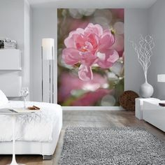 This wall mural pairs beautifully with white walls and pastel home accents.