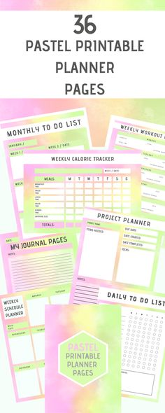 36 gorgeous printable planner pages for your binder! Download now and start using as many times as you want. Project Planner Template, List Template, Health Talk, Health Matters, Health Blogs, Printable Planner Pages, Kids Mental Health, Thing 1, Anxiety Tips