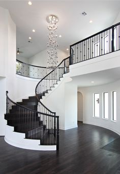 Glamorous grand entrance to custom home