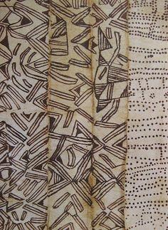 Mbuti barkcloth, Congo - Cynthia's Hi-Desert Blog: Himayalan Cafe and Fowler Museum
