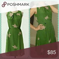 """🆕Anthropologie✨Twinkle⭐Twinkle⭐ Dress My absolute favorite! The elastic at the waist makes this dress so easy and fun to wear; it's fully-lined and is a modest length for all events. The fabric is silky soft - just love it! Excellent condition as this was not worn and kept in storage.💕  """"Shine brightly in this simple silk dress, whose heavenly pattern and cinched waist are sure to bring out your inner star.""""  Reasonable Offers Welcome!👍  By Girls From Savoy. Pullover styling Silk…"""
