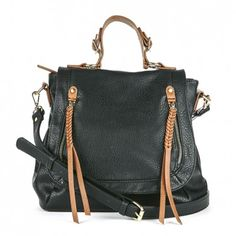 Unstructured vegan messenger bag with adjustable and removable shoulder strap and top handle for dual carry.