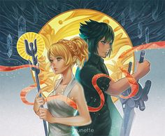 Noctis and Luna by munette.deviantart.com on @DeviantArt