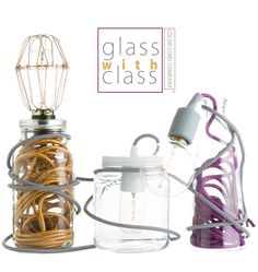 Glass with Class | Mason Jar and Glass Container Lamps | Color Cord Company