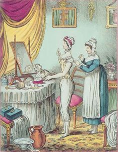 The Lady's Maid and her Duties in the Georgian and Regency Era, via Geri Walton at History of the 18th and 19th Centuries