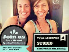 Join us for a Yoga Studio Grand Opening Celebration on May 9, 2015 - Yoga Community Event in Austin on Saturday, May 9 - 2015
