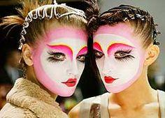 Pat McGrath Japanese Geisha Kabuki style makeup and hair
