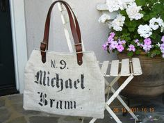 Vintage Chalet Etsy Love: Vintage Flour Sacks, Potato Sacks Make the Best Decorating Trends, Adorable really want one of these bags one day!!