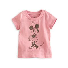 Minnie Mouse Tee for Baby ($13) ❤ liked on Polyvore featuring baby girl