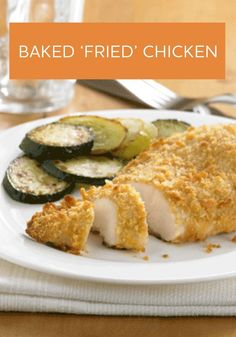 You'd never guess that this Baked 'Fried' Chicken isn't fried! It's a fan favorite and so easy to make!