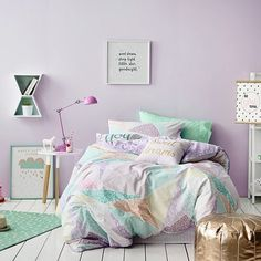 Cute sorbet quilt cover from @adairs #kidsinteriors #kidsroom #kidsdecor #girlsroom #girlsbedroom #adairs #adairskids