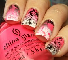 #splatter #nails #colorful