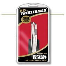 Tweezerman Tweezerman His Hangnail Trimmer W/ Case Stainless by Tweezerman. $20.00. Trimmer gets rid of hangnails with the greatest of ease.. Revolutionary stainless steel trimmer has precise hand-filed tips for removing hangnails. Innovative design combines head of a cuticle nipper with the body of a tweezer. The bottom of the implement is a cuticle pusher that won't scratch nails.