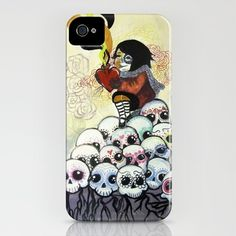 """Sugar Skull Song: You are Where You are Because of Them"" 2011 iPhone Case by alfienumeric - $35.00"