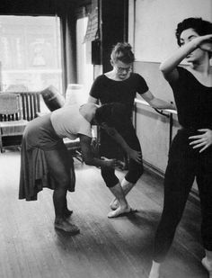 James Dean rehearsing at The Katherine Dunham Dance Studio in NYC.